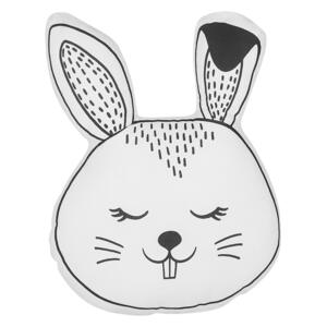 Kids Cushion Black and White Fabric Bunny Shaped Pillow with Filling Soft Children's Toy Beliani