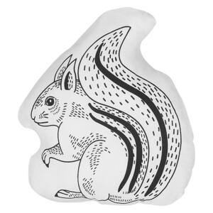 Kids Cushion Black and White Fabric Squirrel Shaped Pillow with Filling Soft Children's Toy Beliani