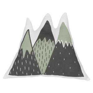 Kids Cushion Green and Black Fabric Mountains Shaped Pillow with Filling Soft Children's Toy Beliani