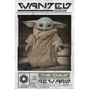 Poster Star Wars: The Mandalorian - Wanted The Child (Baby Yoda), (61 x 91.5 cm)