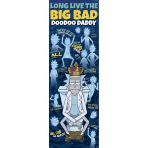 Poster Rick & Morty - Doodoo Daddy, (53 x 158 cm)