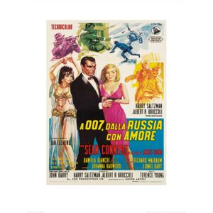 James Bond - From Russia With Love - Sketches Art Print, (60 x 80 cm)