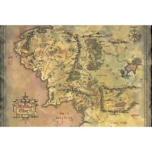 Poster The Lord of the Rings - Middle Earth Map, (61 x 91.5 cm)