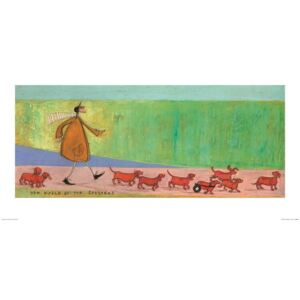 Sam Toft - The March of the Sausages Art Print, (100 x 50 cm)