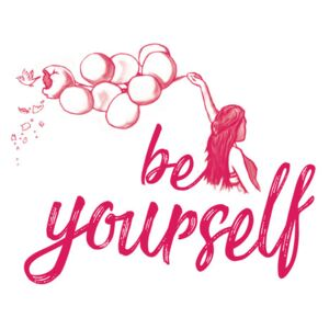 Be yourself - Pink, (96 x 128 cm)