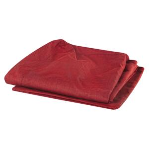 Sofa Slipcover Red Polyester Fabric for 3 Seater Couch Rectangular Cover Beliani