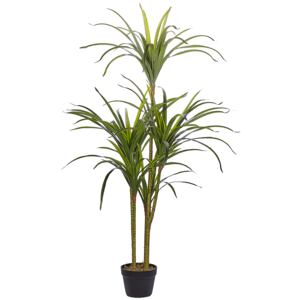Artificial Potted Dracaena Green Synthetic Material 147 cm Decorative Indoor Accessory Beliani