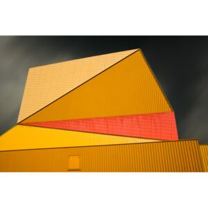 The yellow roof, (128 x 85 cm)