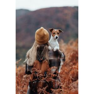 Art Photography Woman traveling with her dog, Javier Pardina