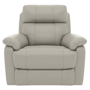 Relax Station Komodo Leather Power Armchair - Silver- World of Leather