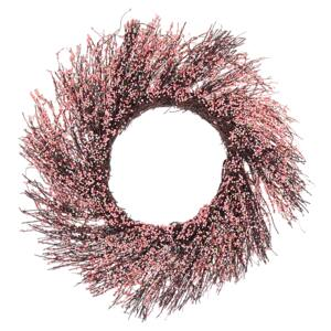 Door Wreath Pink Handmade Decorative Artificial Flower Round 50 cm Table Wall Décor Traditional Rustic Style Beliani
