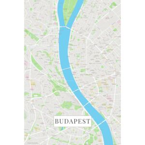 Map Budapest color