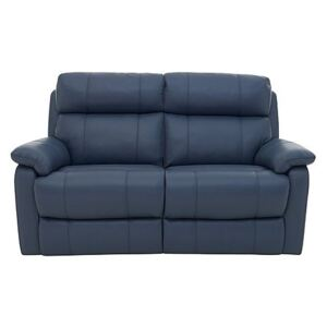 Relax Station Komodo 2 Seater Power Leather Sofa - Blue- World of Leather