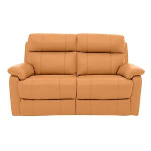 Relax Station Komodo 2 Seater Power Leather Sofa - Yellow- World of Leather