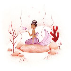 Illustration Mermaid - Coral, The Artcircle