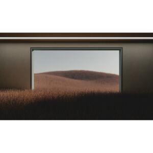 Art Photography Dark room in the middle of brown cereal field series 1, Javier Pardina