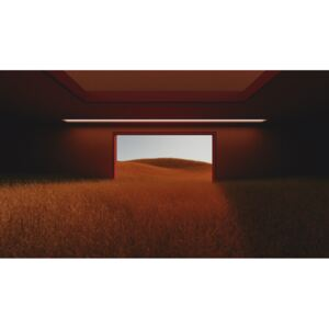 Art Photography Dark room in the middle of red cereal field series 3, Javier Pardina
