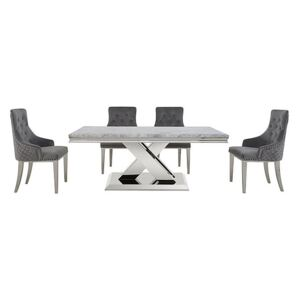 Dolce Dining Table and 4 Button Back Dining Chairs