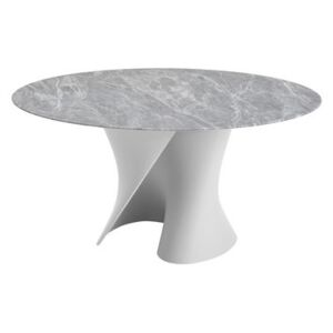 S Round table - Ø 140 cm / Marble top by MDF Italia Grey