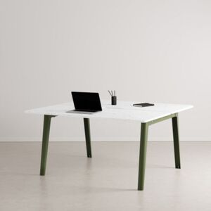 New Modern open space desk - / 2-seat XL - 150 x 140 cm / Recycled plastic by TIPTOE Green