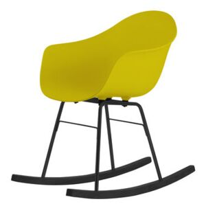 TA Rocking chair - Wood sledge by Toou Yellow
