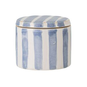 Cathe Small Box - / Ø 11 x H 9.5 cm - Hand-painted ceramic by Bloomingville Blue