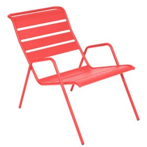 Monceau Low armchair - Stackable by Fermob Red/Orange