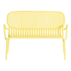 Week-End Bench - / Aluminium - W 114 cm by Petite Friture Yellow
