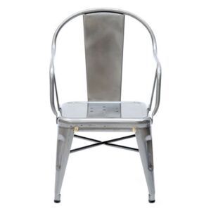 Mouette Children armchair - Varnished raw steel by Tolix Metal