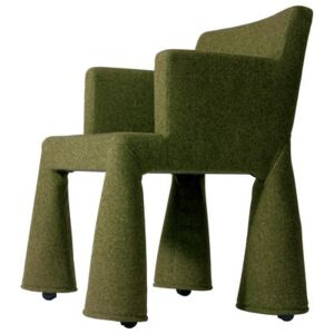 V.I.P. Chair Armchair on casters by Moooi Green