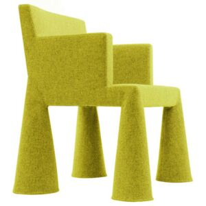 V.I.P. Chair Armchair on casters by Moooi Yellow