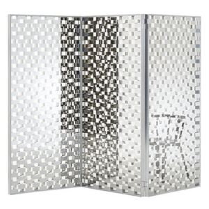 Fragment Folding screen - / Glass with chequered pattern - L 87 x H 189 cm by Glas Italia Transparent/Mirror