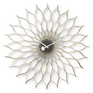 Sunflower Clock Clock - / By George Nelson, 1948-1960 / Ø 75 cm by Vitra Natural wood