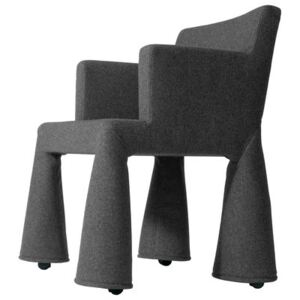 V.I.P. Chair Armchair on casters by Moooi Grey