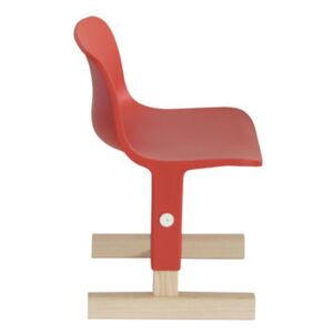 Little big Children's chair - / Adjustable height by Magis Collection Me Too Orange/Natural wood
