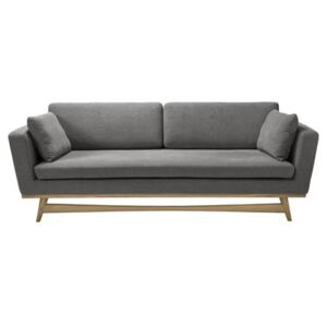 Straight sofa - / L 210 cm - Fabric by RED Edition Grey/Natural wood