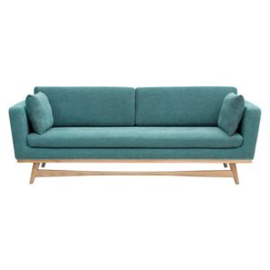 Straight sofa - / L 210 cm - Fabric by RED Edition Blue/Natural wood