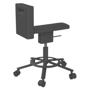 360° Chair Wheelchair - Casters by Magis Black