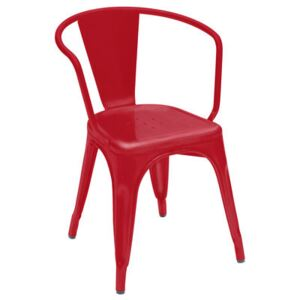 A56 Armchair - Steel - Shinny color by Tolix Red