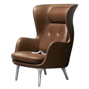 Ro Padded armchair by Fritz Hansen Brown