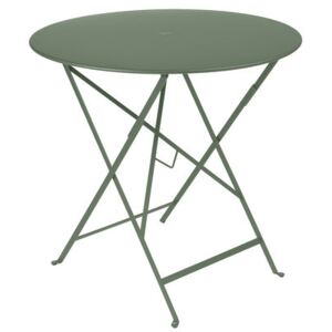 Bistro Foldable table - Ø 77 cm - Foldable - With umbrella hole by Fermob Green