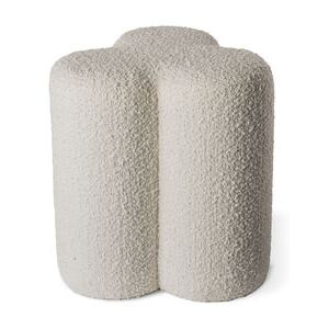 Clover Pouf - / Terry loop fabric by Pols Potten White/Beige