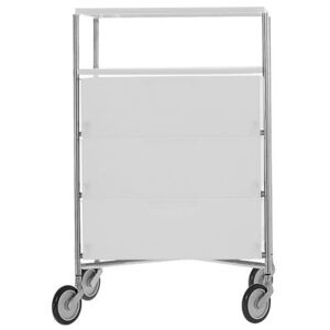 Mobil Mobile container - With 4 drawers by Kartell White