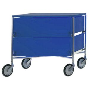 Mobil Mobile container - With 2 drawers by Kartell Blue