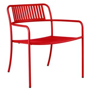 Patio Lames Low armchair - / Slats - Stainless steel by Tolix Red/Orange