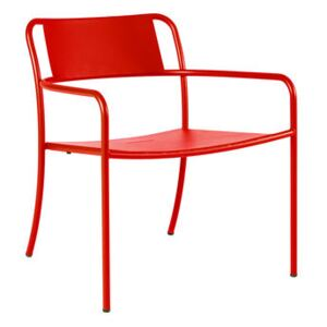Patio Low armchair - / Stainless steel by Tolix Red/Orange
