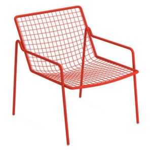 Rio R50 Stackable low armchair - / Metal by Emu Red