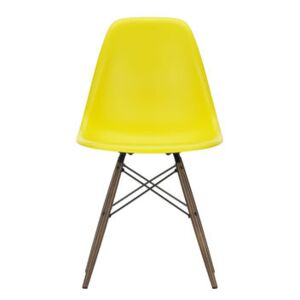 DSW - Eames Plastic Side Chair Chair - / (1950) - Dark wood by Vitra Yellow