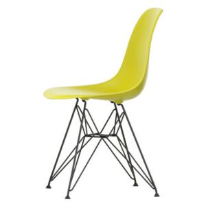 DSR - Eames Plastic Side Chair Chair - / (1950) - Black legs by Vitra Yellow