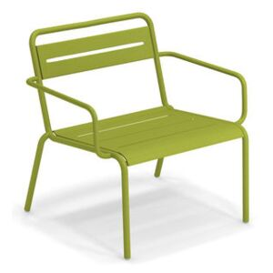 Star Stackable low armchair - / Metal by Emu Green